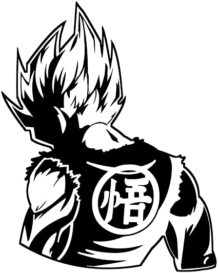 Kyokovinyl Dragon Ball Z Dbz Goku Super Saiyan Anime Decal Sticker For Car Truck Laptop 6 9 X 5 5 Black