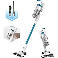 EUREKA RapidClean Pro Lightweight Cordless Vacuum Cleaner, High Efficiency Powerful Digital Motor LED Headlights, Convenient Stick and Handheld Vac, Essential, Blue