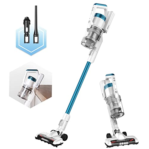 Eureka NEC180 RapidClean Pro Cordless Vacuum Cleaner,High Efficiency Powerful Digital Motor, Lithium Battery, LED Headlights, Handheld. Convenient Stick, Blue