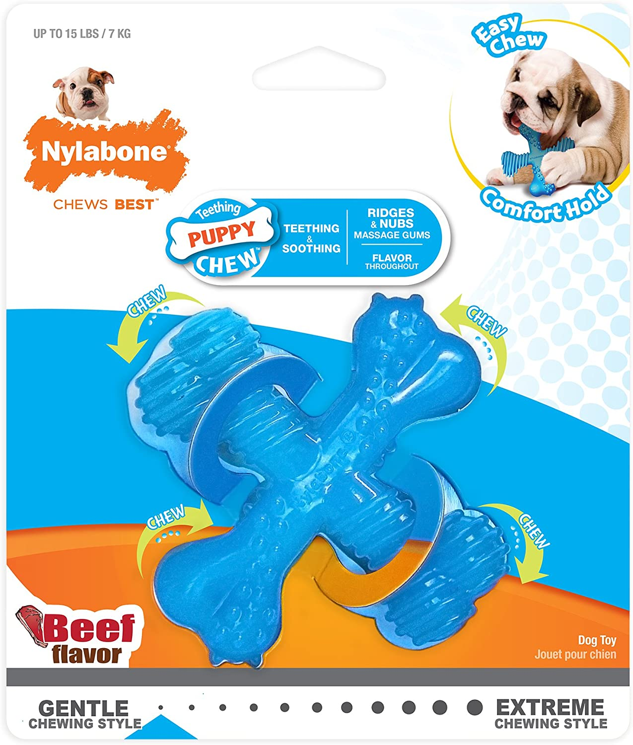 Nylabone Power Chew Durable Dog Toy, Beef,