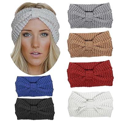 0fb8a98bda5f14 HBF 6 stk Kopfband aus Stirck Haarband Häkelarbeit Schleifeformig Stirnband  Winter und Frühling