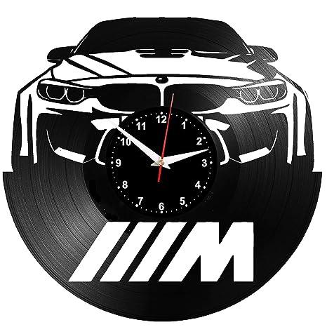 EVEVO BMW Reloj De Pared Vintage Accesorios De Decoración del Hogar Diseño Moderno Reloj De Vinilo