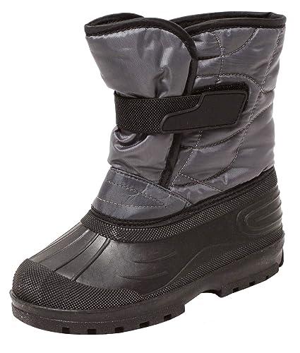 552ac022efdb6a Zapato Snowboots Schneestiefel Winterstiefel Stiefel für Kinder Jugendliche  Gr. 31-37 SCHWARZ GRAU warm