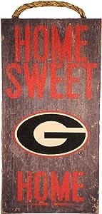 "Fan Creations NCAA Georgia Bulldogs 6"" x 12"" Home Sweet Home Wood Sign"