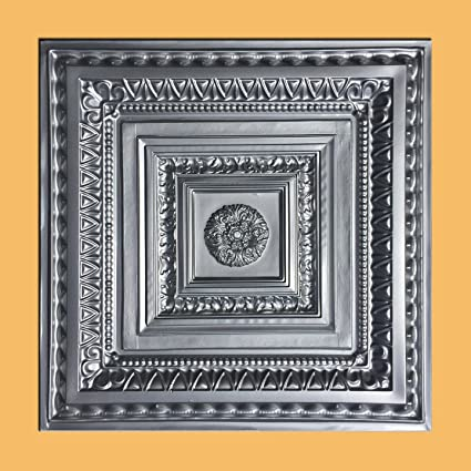 Swell Amazon Com Brilliance Silver 24X24 Pvc Ceiling Tile Download Free Architecture Designs Meptaeticmadebymaigaardcom