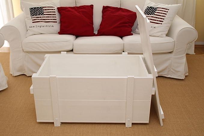 Uncle Joes Mesa de centro tipo baúl, de madera, mesa ...