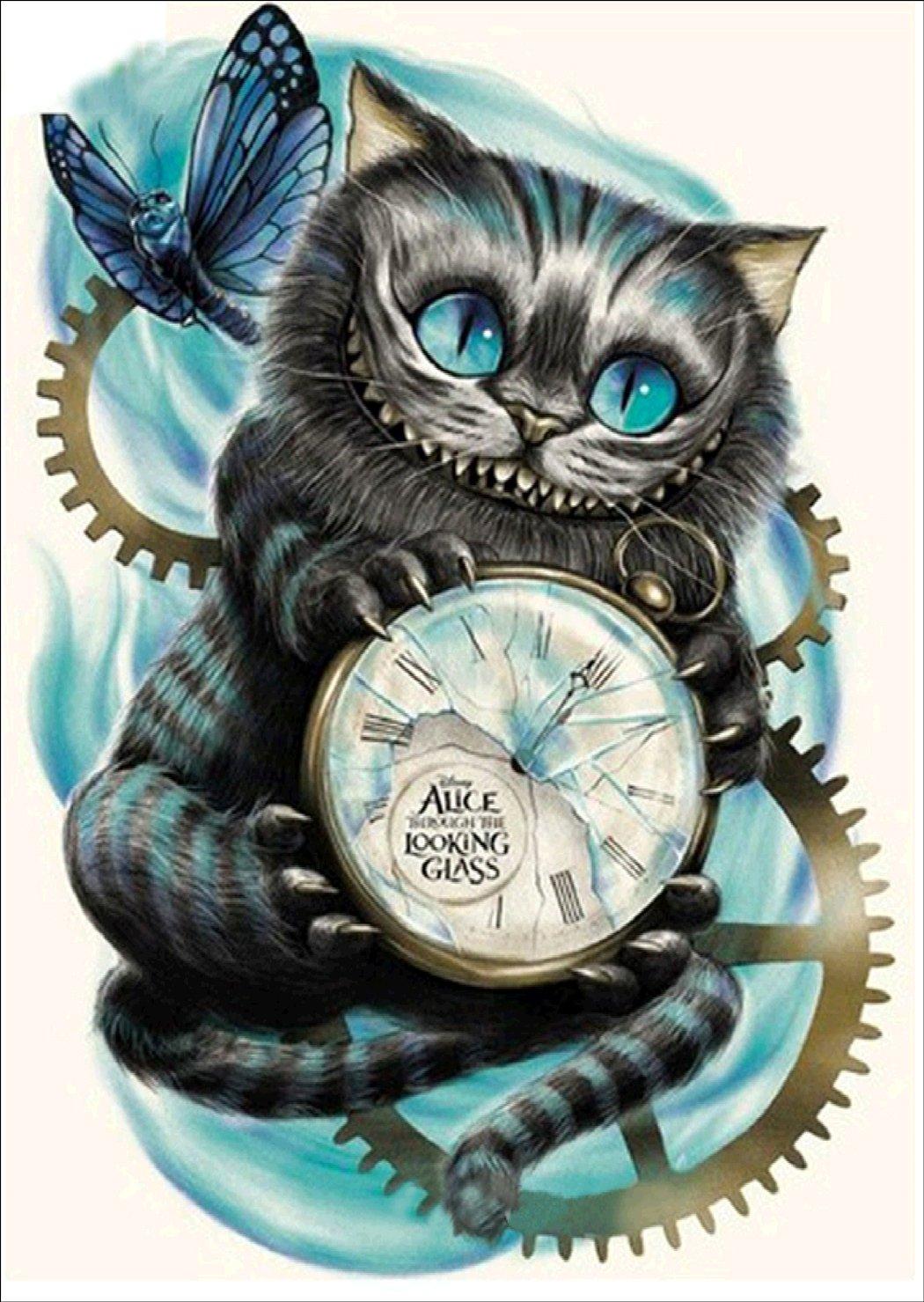 5d Pintura Por Diamantes (4723) Gato De Alicia