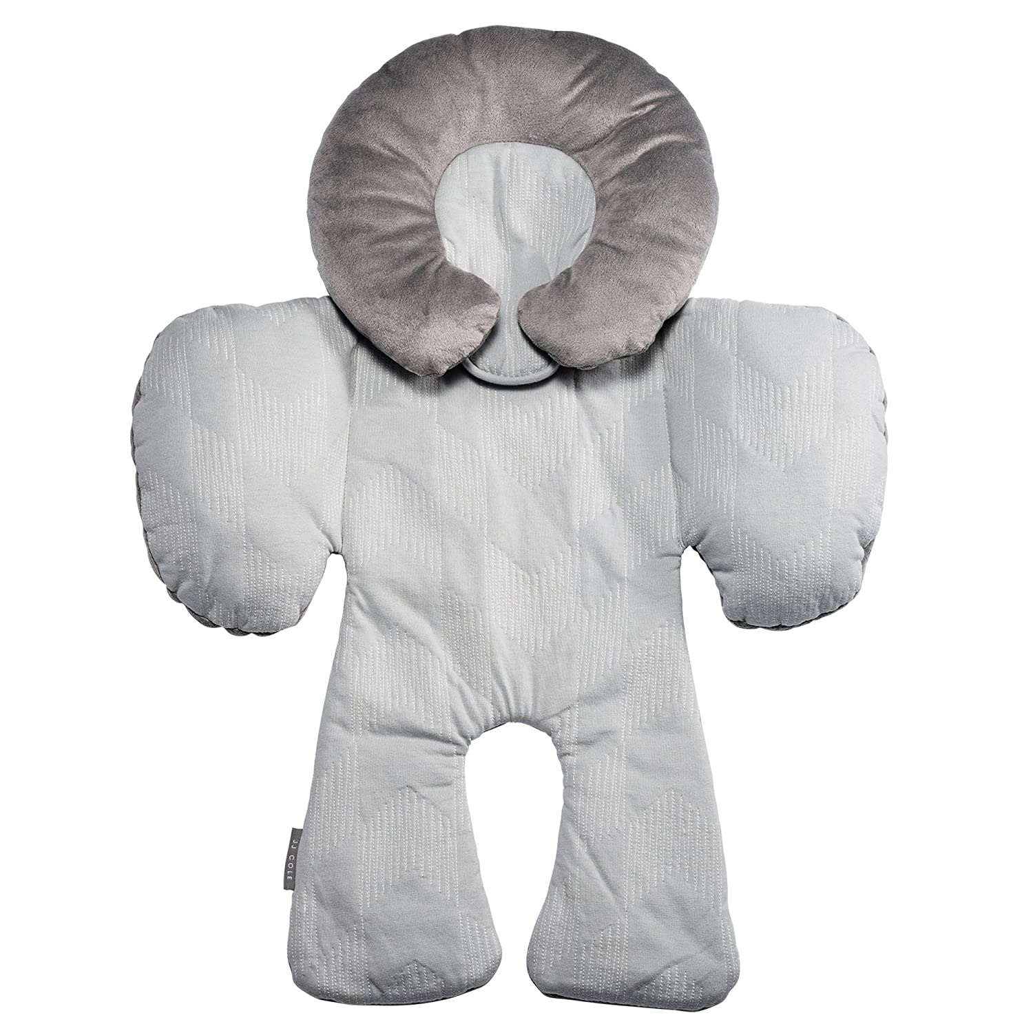 JJ Cole - Reversible Body Support Pillow, for Your Infant's Comfort in The Car Seat and Stroller, Designed to Adjust for Age and Season Wine Triangles, Birth and up J00915