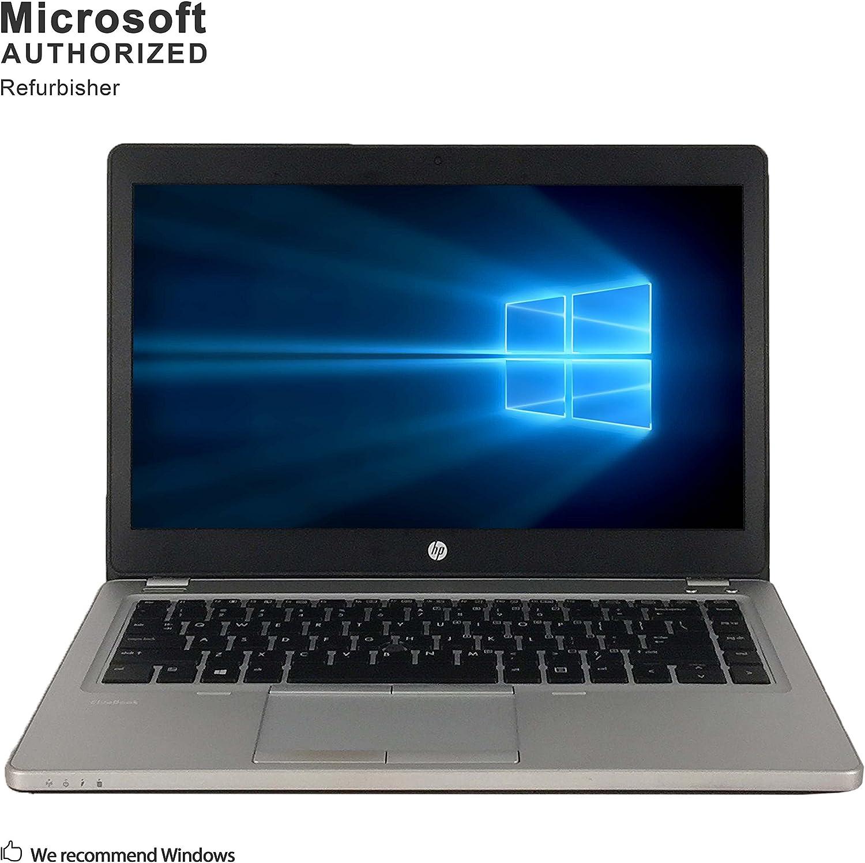 HP EliteBook Folio 9470m 14 Inch Business Laptop, Intel Core i5-3427U up to 2.8GHz, 8G DDR3, 1T, WiFi, VGA, DP, Windows 10 Pro 64 Bit Multi-Language Support English/French/Spanish(Renewed)