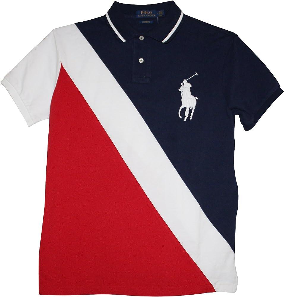 Polo Ralph Lauren – Hombre Custom Fit de Malla Big Pony – Camiseta ...