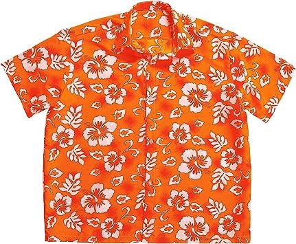 WIDMANN Camisa hawaiana naranja hombre - XL: Amazon.es: Juguetes y juegos