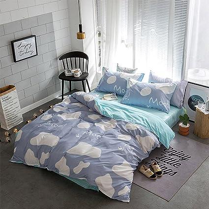 Amazon Com Hxiang Blue Small Cow Bedding Cartoon Men S Duvet Cover