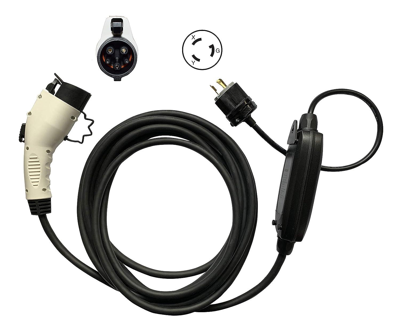 EV充電器 EVSE PHEV 200V-240V 16A 25フィートコードSAE J1772 NEMA L6-20P 電気自動車車の充電器   B07MK1TWDD