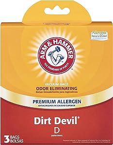 Arm & Hammer Dirt Devil Style D Premium Allergen Vacuum Bags (3 Pack)