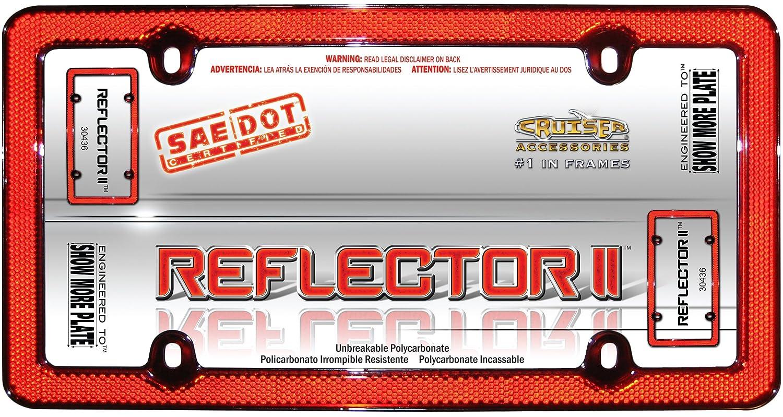 Red//Chrome Cruiser Accessories 30436 Reflector II