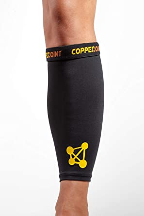 2 Pack Copper Infused Calf Compression Sleeves Men and Women