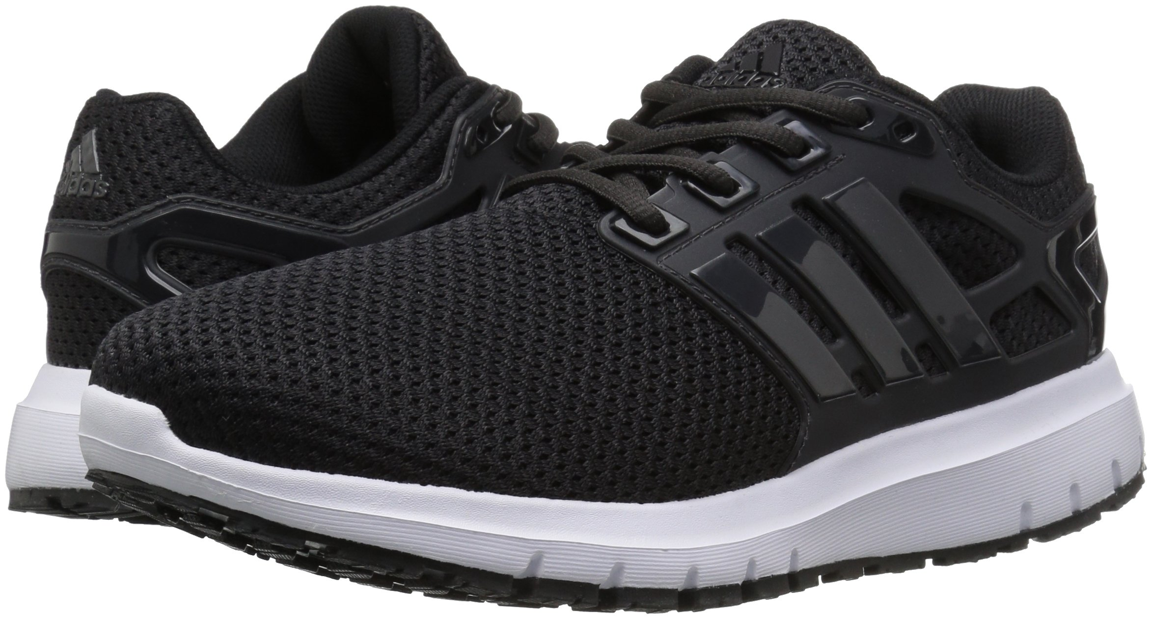 adidas  Men's Energy Cloud Wide m Running Shoe, BLACK/UTILITY BLACK/WHITE, 10.5 2E US by adidas (Image #6)