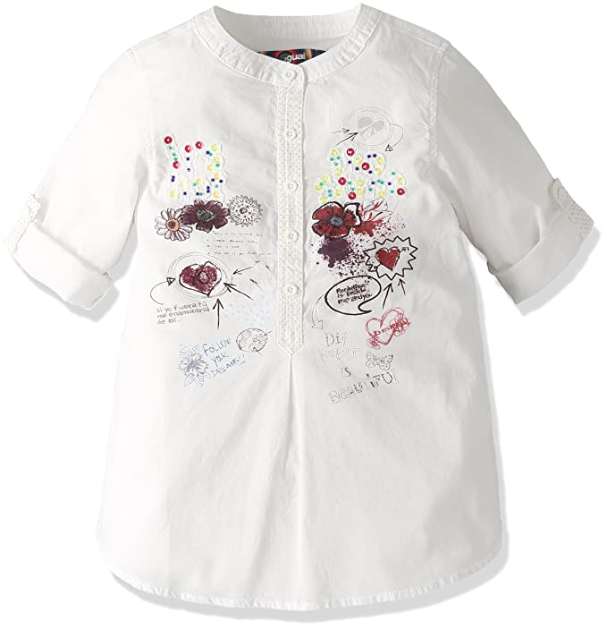 Desigual - Blusa - para niña Blanco 116 cm