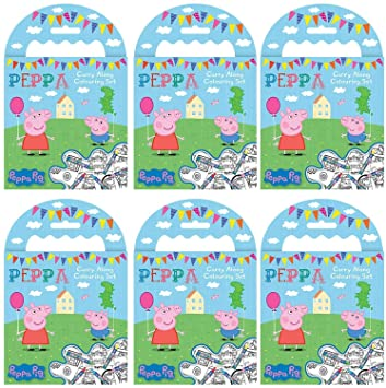 Peppa Pig PARA Llevar para Colorear Juegos (Pack de 6 ...