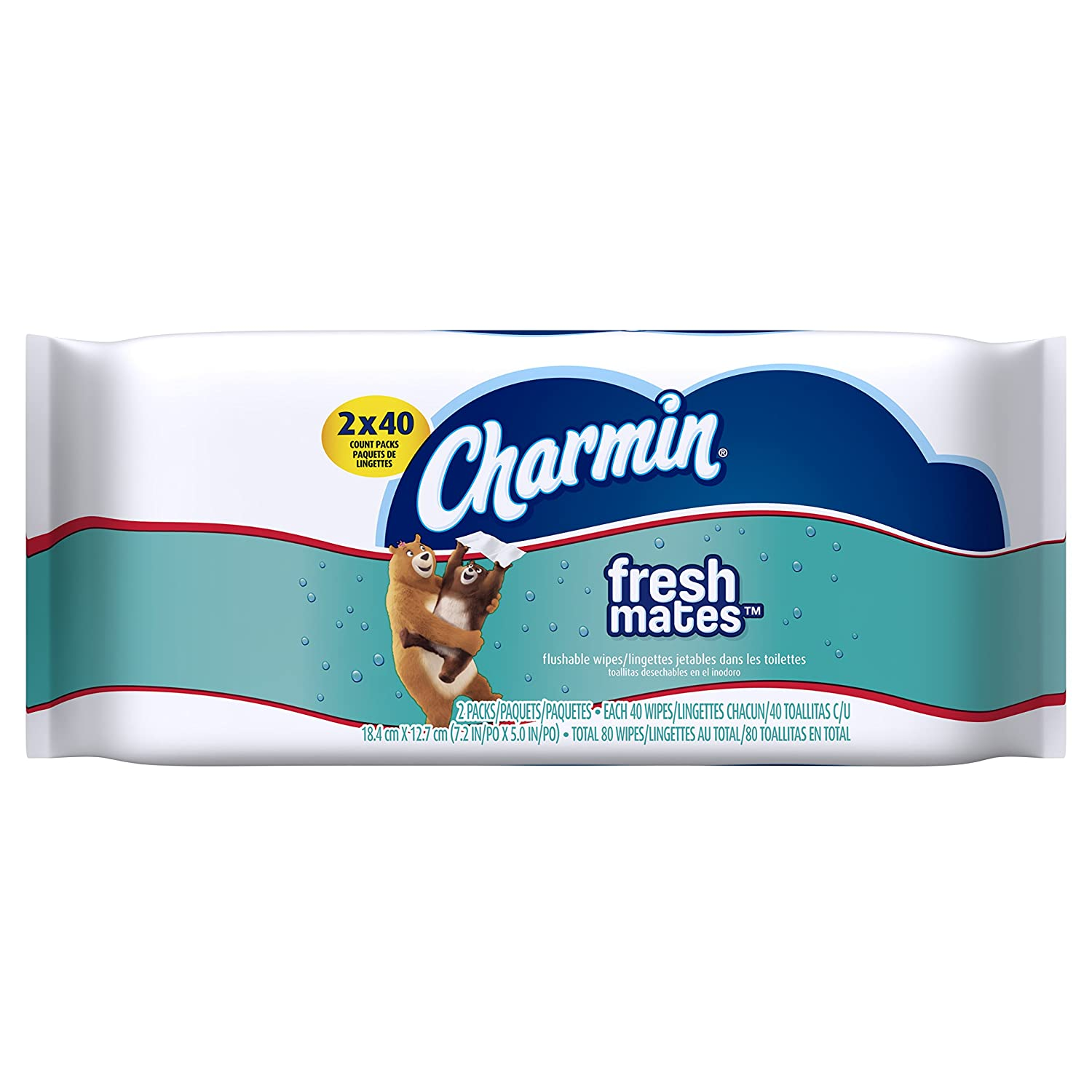Amazon.com: Charmin Freshmates 80 Count Refill Pack (2 sets of 40 Count Fresh Wipes) Pack of 6.: Health & Personal Care