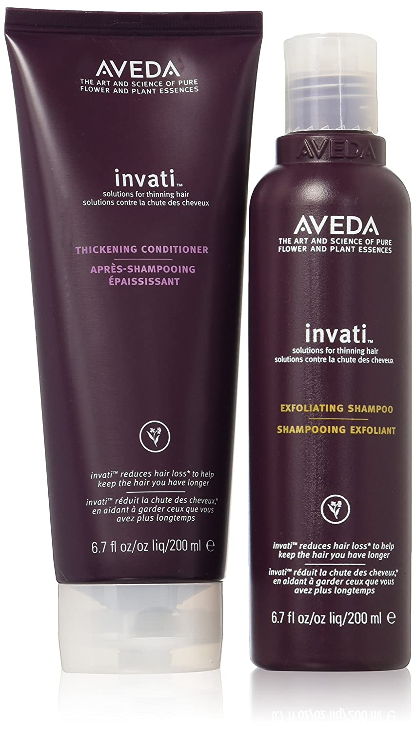 Aveda Invati Exfoliating Shampoo 6.76oz & Thickening Conditioner 6.76oz SET