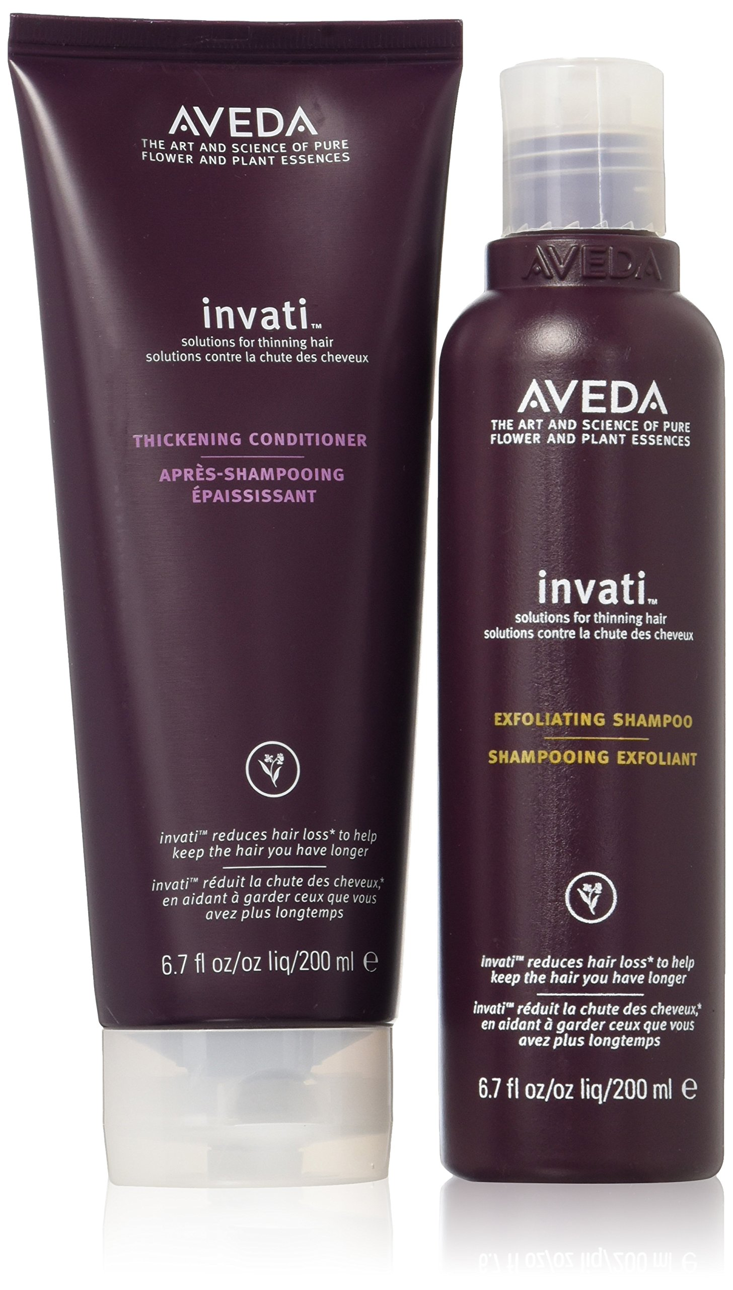 Aveda Invati Exfoliating Shampoo 6.76oz & Thickening Conditioner 6.76oz SET by Aveda