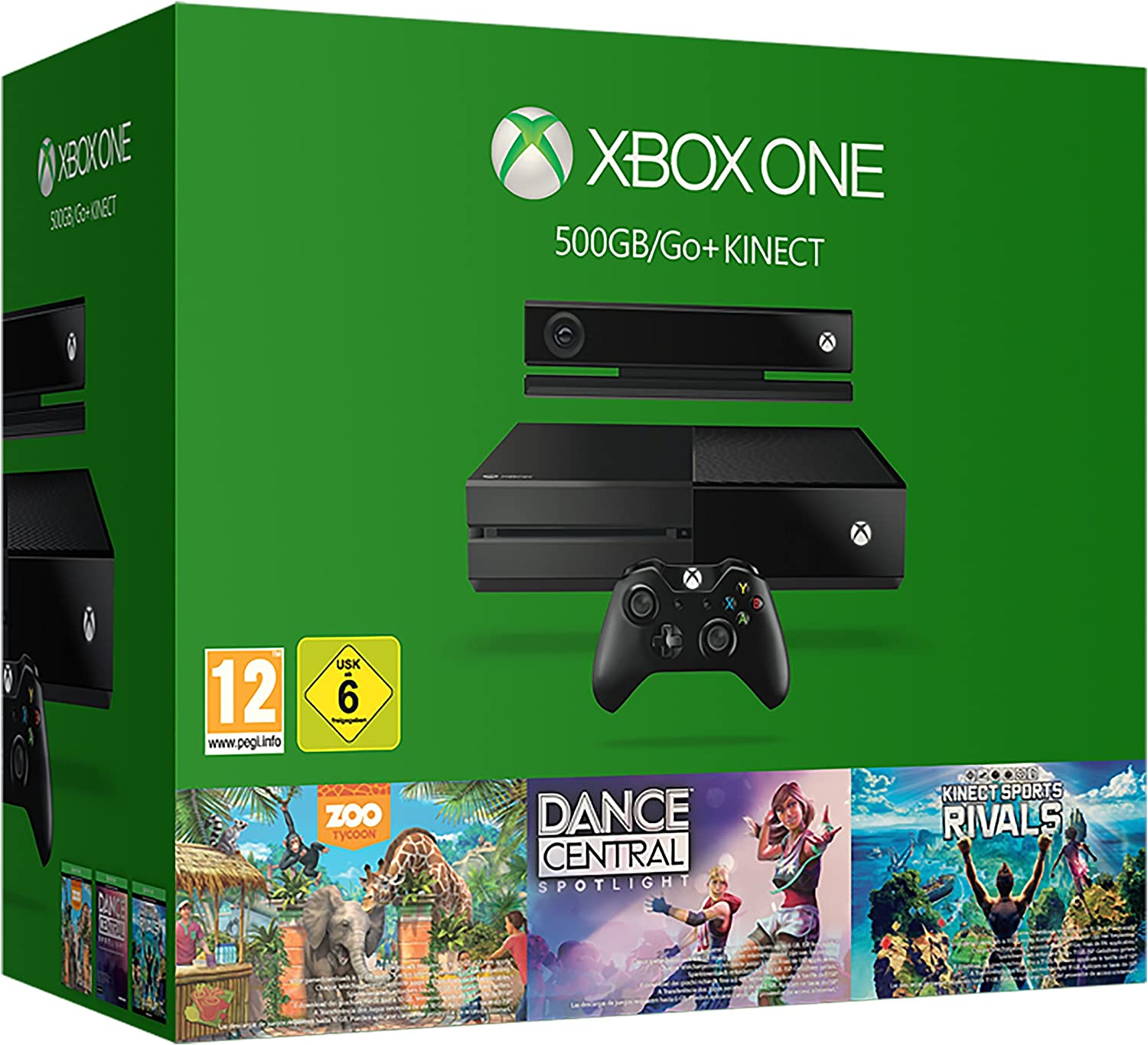 Xbox One With Kinect With Kinect Sports Rivals, Zoo Tycoon And ...