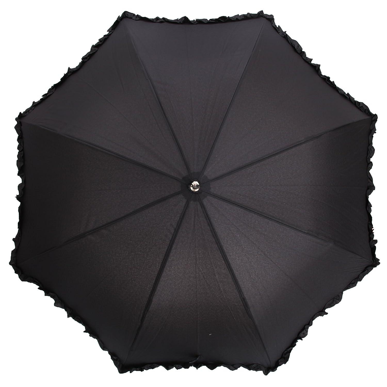 Universaltextilien Damen Regenschirm mit R/üschen