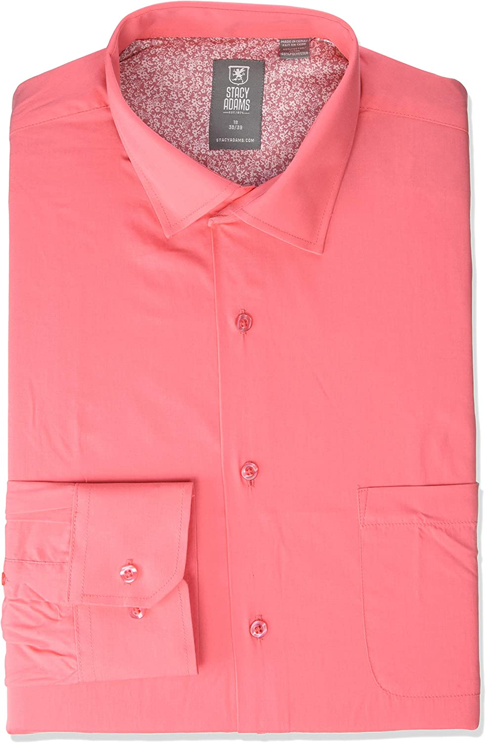 STACY ADAMS Men's Big-Tall 39000 Solid Dress Shirt: Clothing