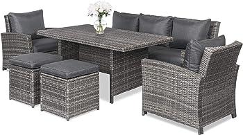 Best Choice Products 6-Piece Modular Patio Wicker Dining Sofa Set