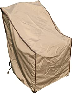 SORARA Single Porch Leisure Chair Cover Outdoor Patio Furniture Cover, Water Resistant, 31'' L x 27.5'' W x 40'' H, Brown