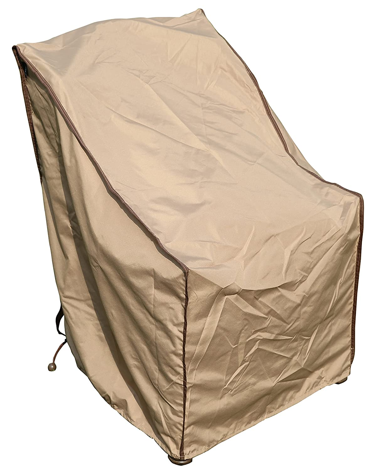 SORARA Single Porch Leisure Chair Cover Outdoor Patio Furniture Cover, Water Resistant, 28.7 L x 25 W x 34 H, Brown