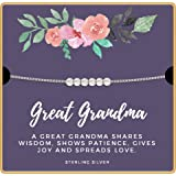 KEDRIAN Great Grandma Necklace, 925 Sterling Silver, Great Grandma Gifts, Best Pendant Gift for Great Grandmother, Great Grandma Mothers Day Or Birthday Gift, Promoted to Great Grandma Necklaces