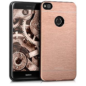 kwmobile Funda para Huawei P8 Lite (2017) - Carcasa de [Aluminio] para teléfono móvil - Case [Suave] en [Oro Rosa]