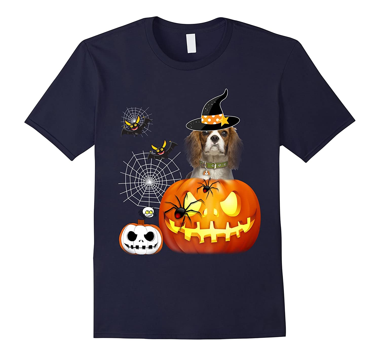 cavalier king charles spaniel Halloween tshirt-FL