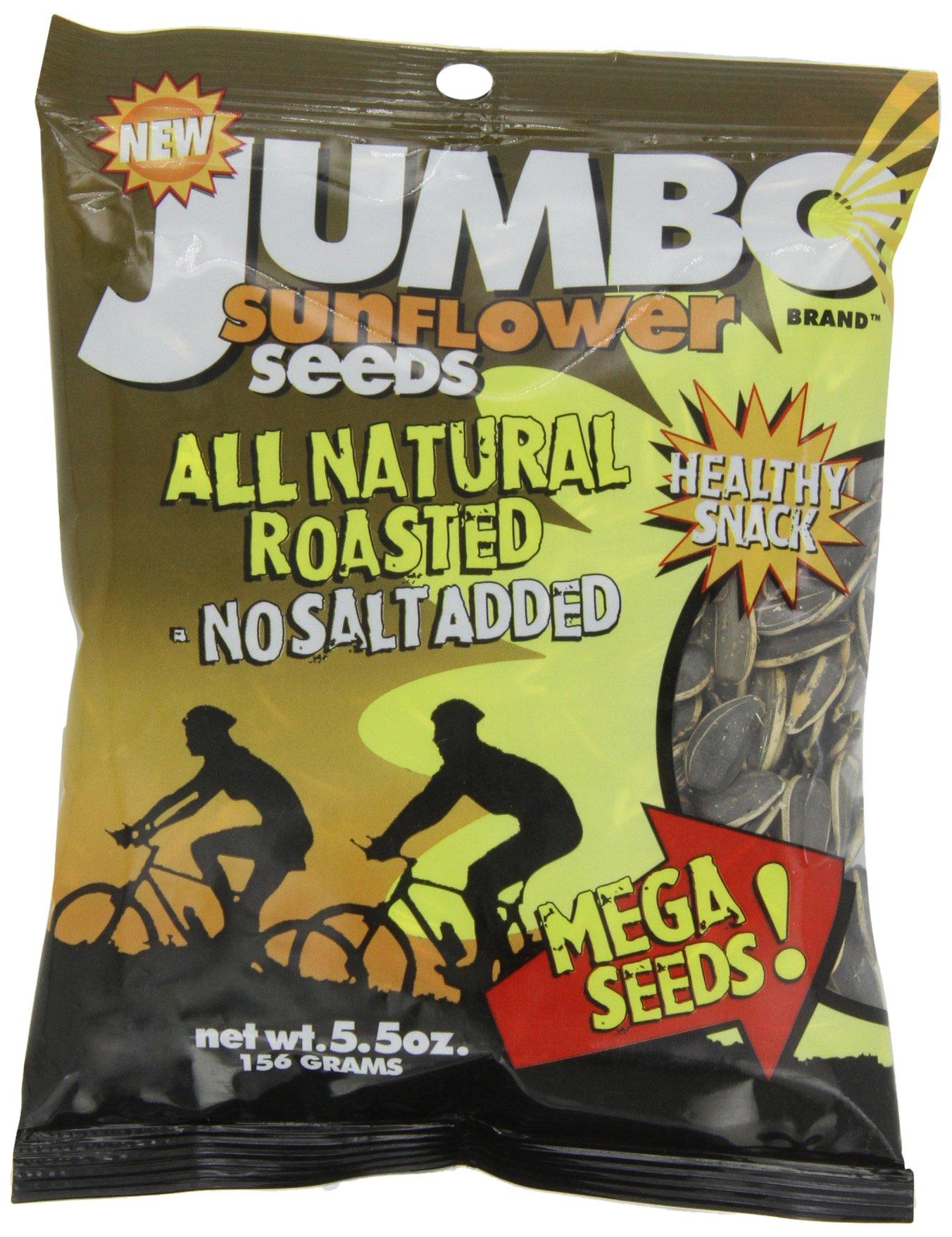 JUMBO SUNFLOWER SEEDS Sunflower Seeds, Mega No Salt, 5.5-Ounce (Pack of 12) by JUMBO SUNFLOWER SEEDS