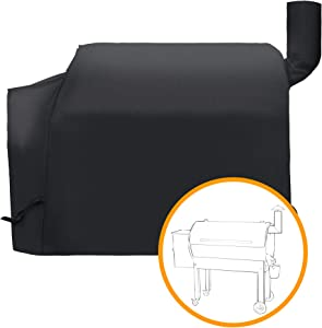 i COVER Pellet Grill Cover- Fits Traeger 34 Series Grill and Smoker Heavy Duty Water Proof Patio Outdoor Canvas Barbeque BBQ Smoker Cover, for Traeger Texas Elite 34 Series Pellet Grill and Smoker