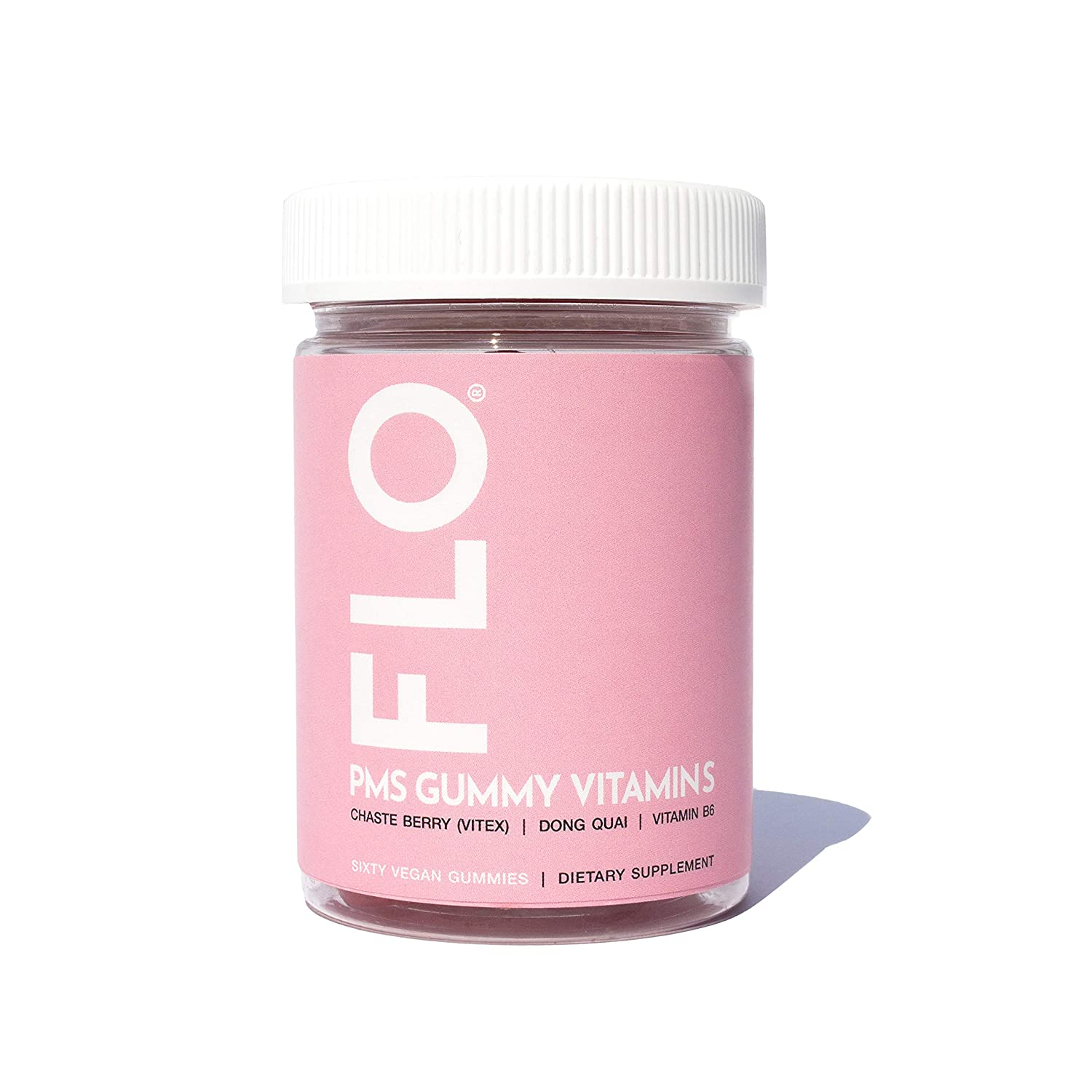 Amazon.com: FLO - PMS Gummy Vitamins With Chaste Berry, Vitamin B6 & Dong Quai | All Natural Chewable Dietary Supplement | Alleviate Cramps, Support Better ...