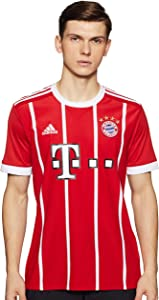 adidas 2017-2018 Bayern Munich Home Football Soccer T-Shirt Jersey