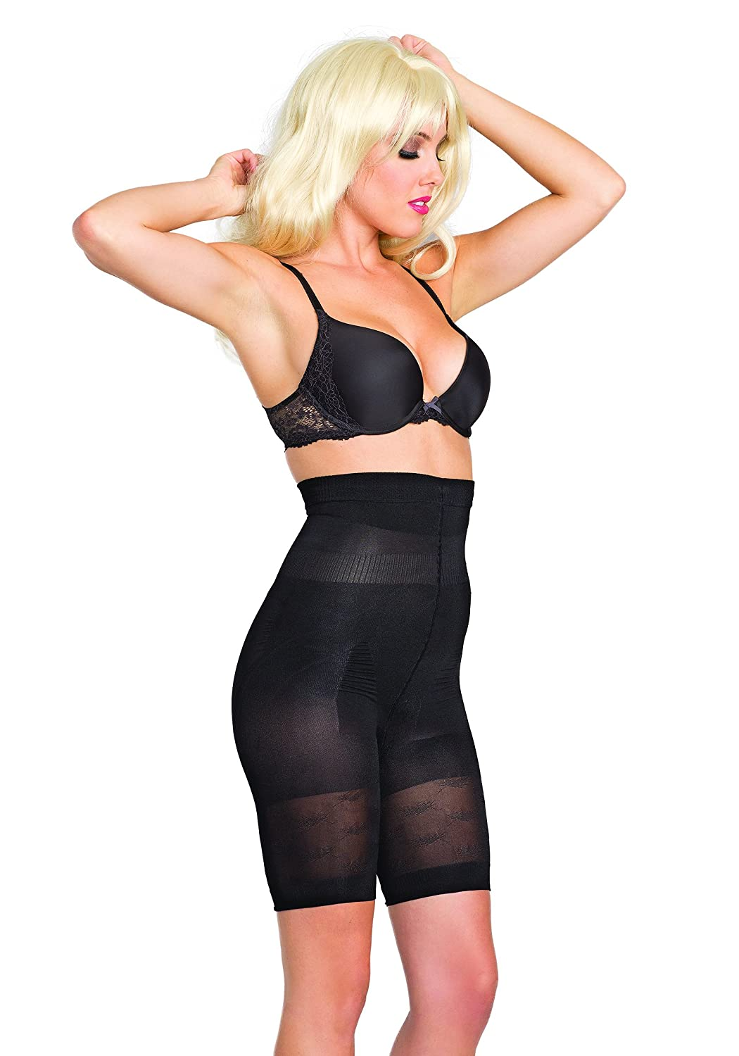 a9f0a2541c611 Amazon.com  Be Wicked Silicone Stay Up Strapless Mid-Thigh Body Shaper   Clothing