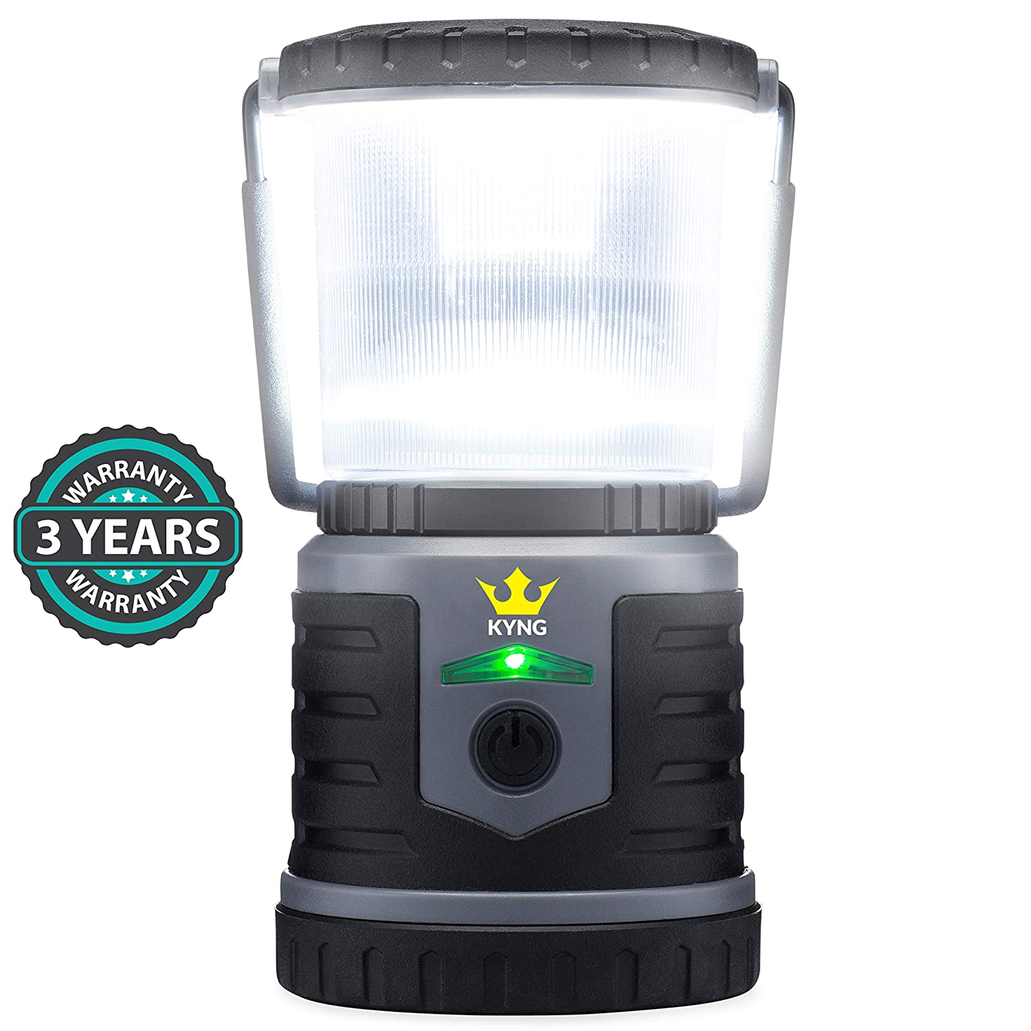 Rechargeable LED Lantern Brightest Light for Camping, Emergency Use, Outdoors, and Home- Lasts for 250 Hours on a Single Charge- Includes USB Cord and Wall Plug, Built in Phone Charger