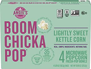 product image for Angie's BOOMCHICKAPOP Microwave Popcorn, Lightly Sweet Kettle Corn, 3.29 Fresh-Pop Bowls, 4 Ct