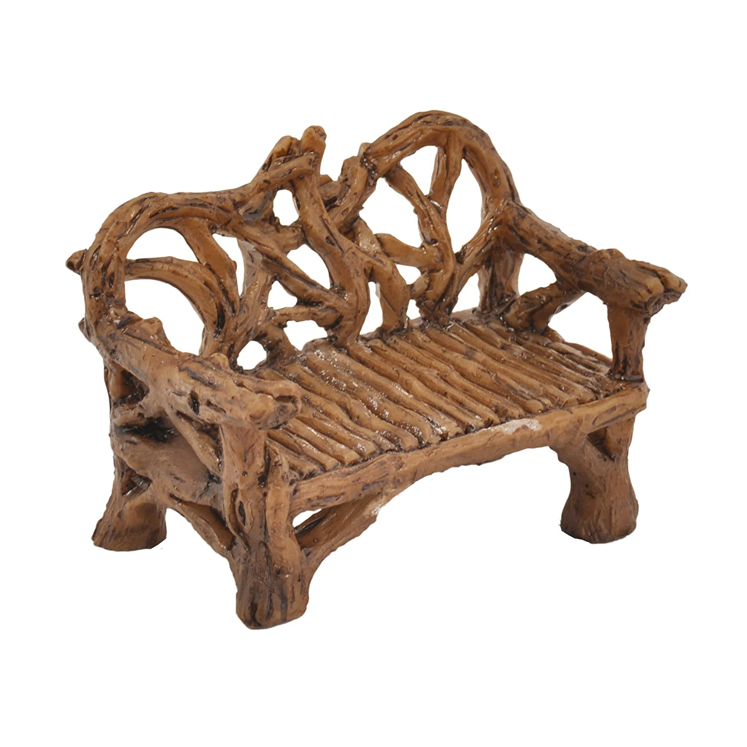 Georgetown Home & Garden Miniature Twig Bench Garden Decor