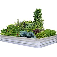 Deals on FOYUEE Galvanized Raised Garden Beds 8x4x1ft