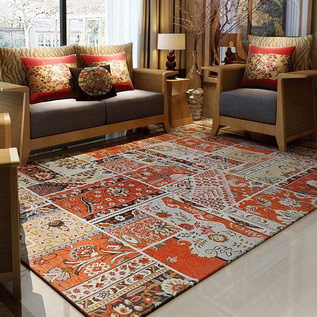 GXQ Böhmen Teppich Wohnzimmer Teppich Eingangstür Stoff Sofa Schlafzimmer Nationalen Wind Bettdecke (Farbe   B, größe   160x230cm(63x91inch))