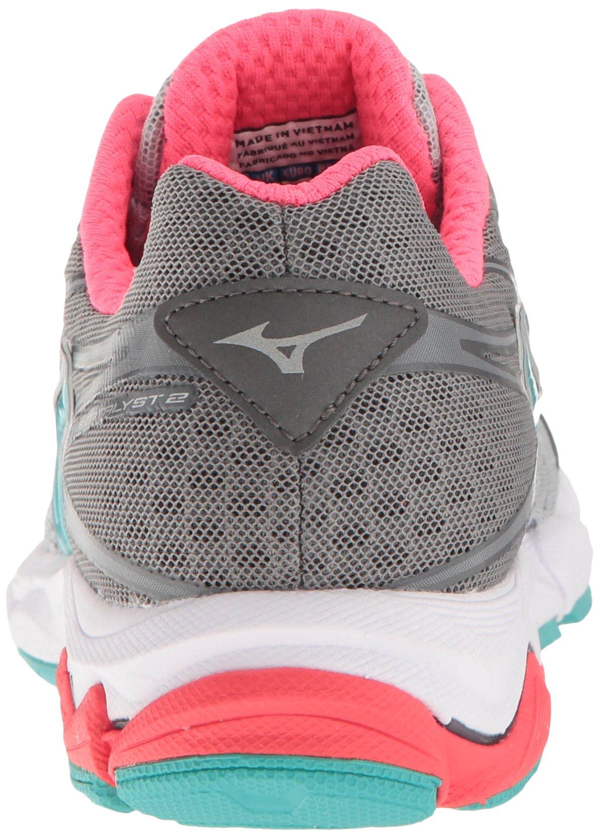 Mizuno Women's Wave Catalyst 2 Running Shoe, Grey/Mint, 9 B US by Mizuno (Image #2)