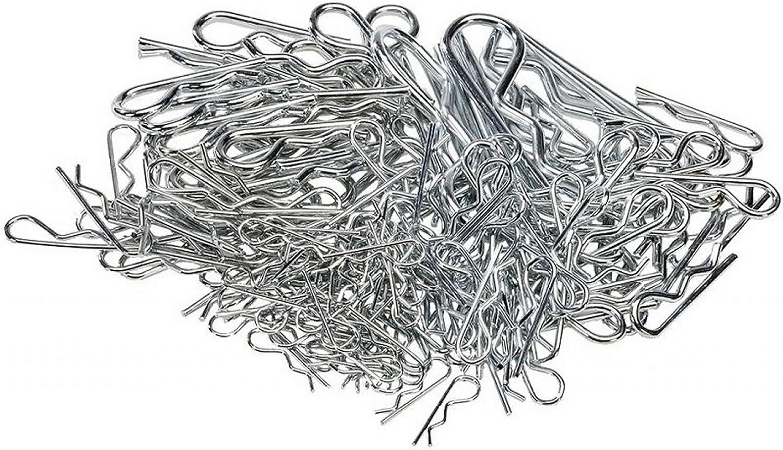 Federstecker Sicherungssplinte dienen der Sicherung 150tlg Federsplinten Set von Hafix Sicherungsklammer Splinte f/ür eine bessere Sicherung von Bolzen und Achsen