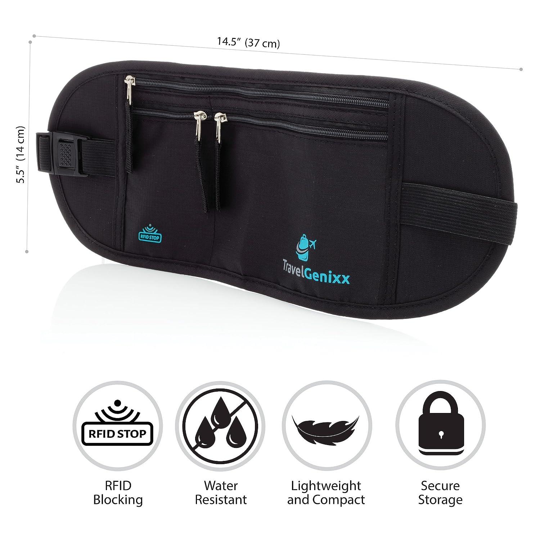 Cartera Cinturón de seguridad para llevar billetes, pasaporte, dinero, creditcards: Amazon.es: Equipaje