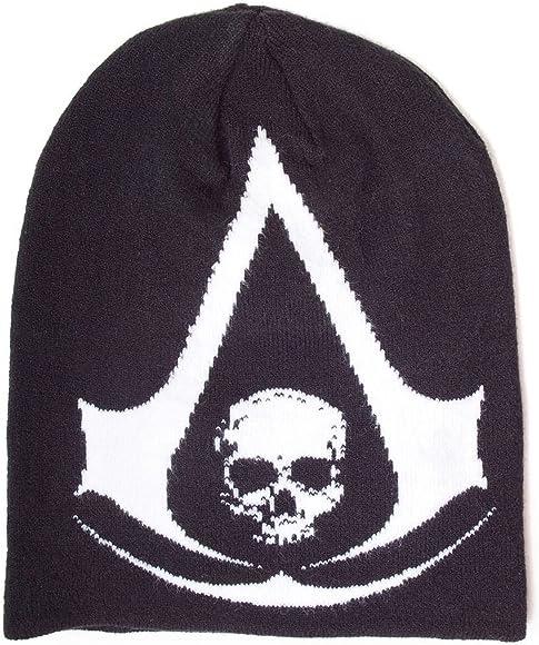 Assassins Creed Iv Black Flag Skull Official Mens Black Beanie One