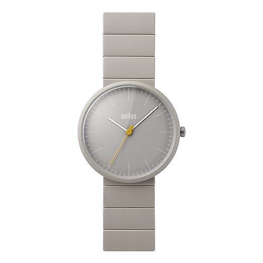 Braun BN0171GYGYG - Reloj análogico de cuarzo con correa de cerámica para hombre, color gris/negro: Amazon.es: Relojes